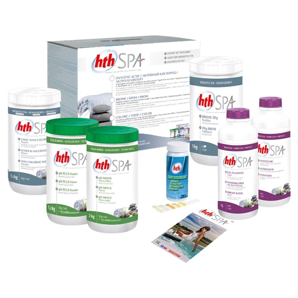 Kit de traitement au brome HTH pour spa gonflable