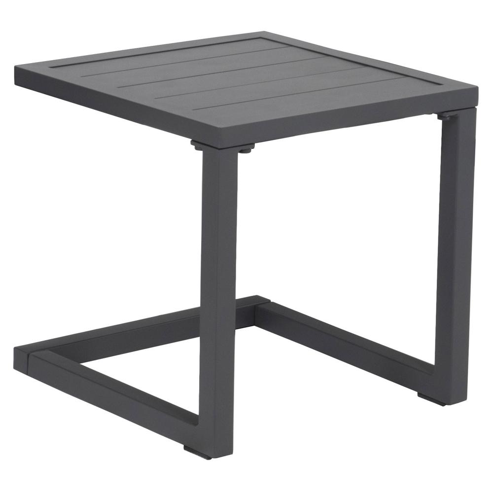 Table d'appoint en aluminium BARBADOS noir