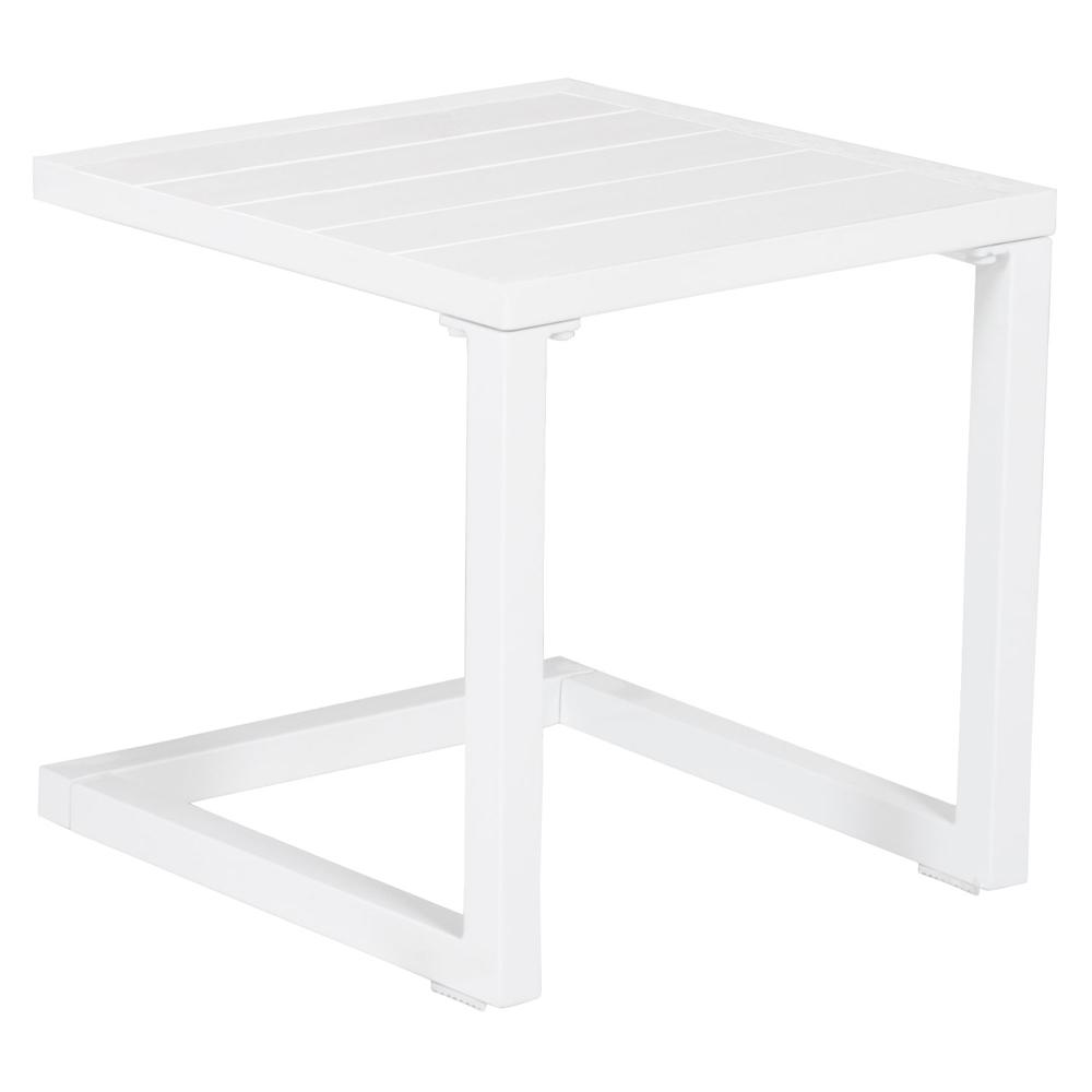 Table d'appoint en aluminium BARBADOS blanc