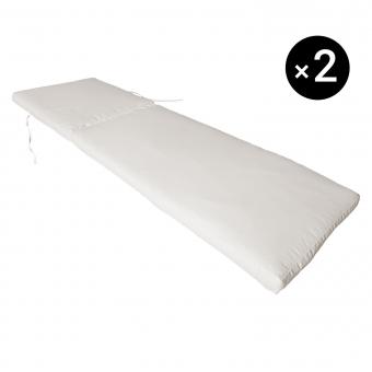 Lot de 2 coussins de bain de soleil - beige 190 × 60cm