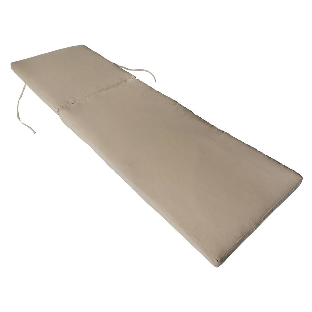 Coussin de bain de soleil - taupe 190 × 60cm