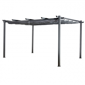 Pergola autoportante 3 × 4m CASSIS grise - structure aluminium