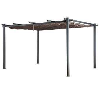 Pergola autoportante 3 × 4m CASSIS taupe - structure aluminium