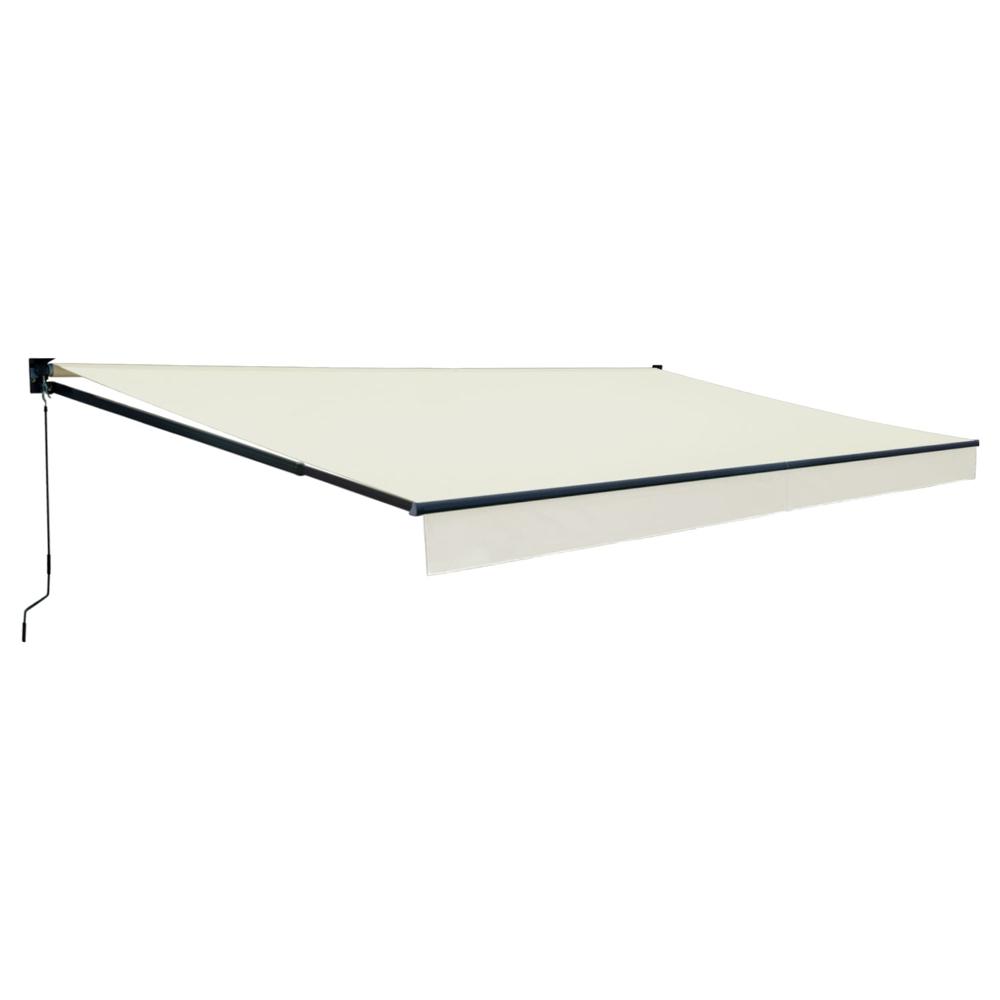 Store banne SAULE 3,95 × 3m - Toile beige et structure grise