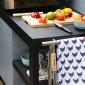 Cook'in Garden - Desserte noire NOVA pour plancha