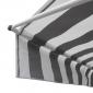 Store banne pour balcon CHENE 2 × 1,2m - Toile rayée blanche/grise et structure blanche