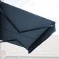 Store banne SAULE 5 × 3m avec semi-coffre - Toile anthracite et structure grise