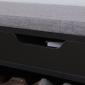 Meuble à chaussures trois casiers avec coffre noir ALAN