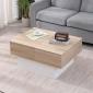 Table basse avec plateau amovible blanche GRETA