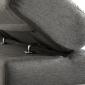 Canapé d'angle convertible WARREN 3 places gris