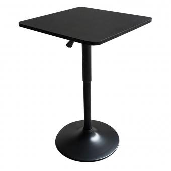 Table de bar carrée noire LUKE