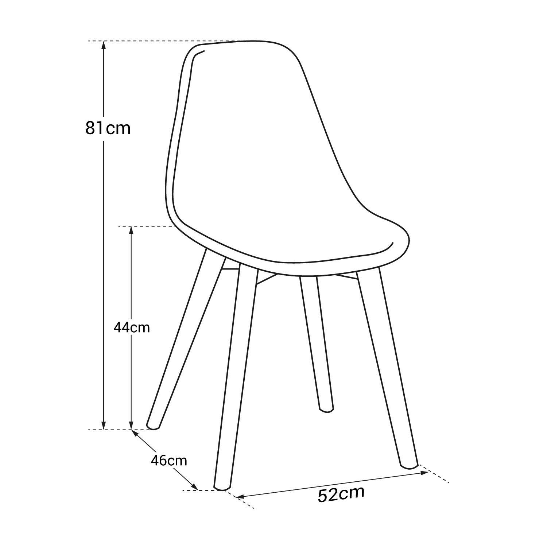 Lot de 4 chaises scandinaves LIV grises