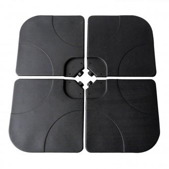 Lot de 4 dalles carrées QUIBERON