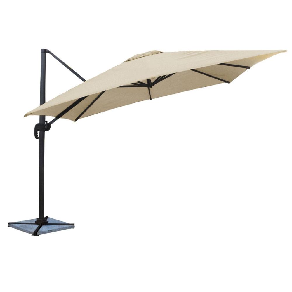 Parasol déporté MOLOKAI carré 3x3m beige