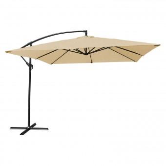 Parasol déporté MOLOKAI carré 2,7x2,7m beige