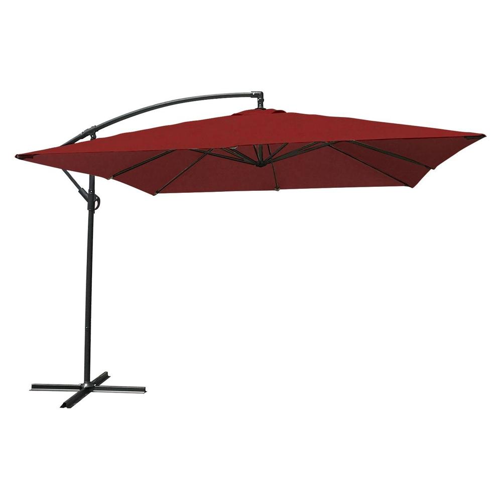 Parasol déporté MOLOKAI carré 2,7x2,7m rouge