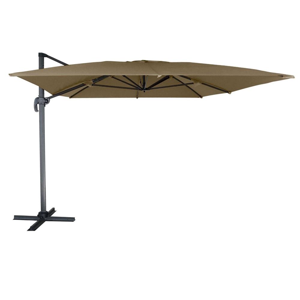 Parasol déporté MOLOKAI rectangulaire 3x4m taupe