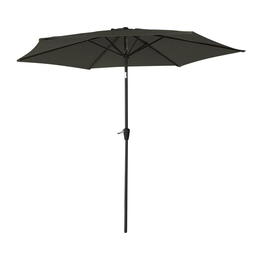 Parasol droit HAPUNA rond 2,70m de diamètre gris