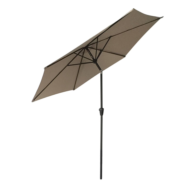 Parasol droit HAPUNA rond 2,70m de diamètre taupe