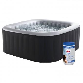 MSPA - Pack spa gonflable ALPINE carré 158cm - 4 places + pastilles de brome