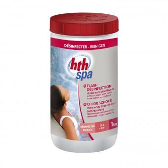 Poudre flash de désinfection HTH pour spa gonflable